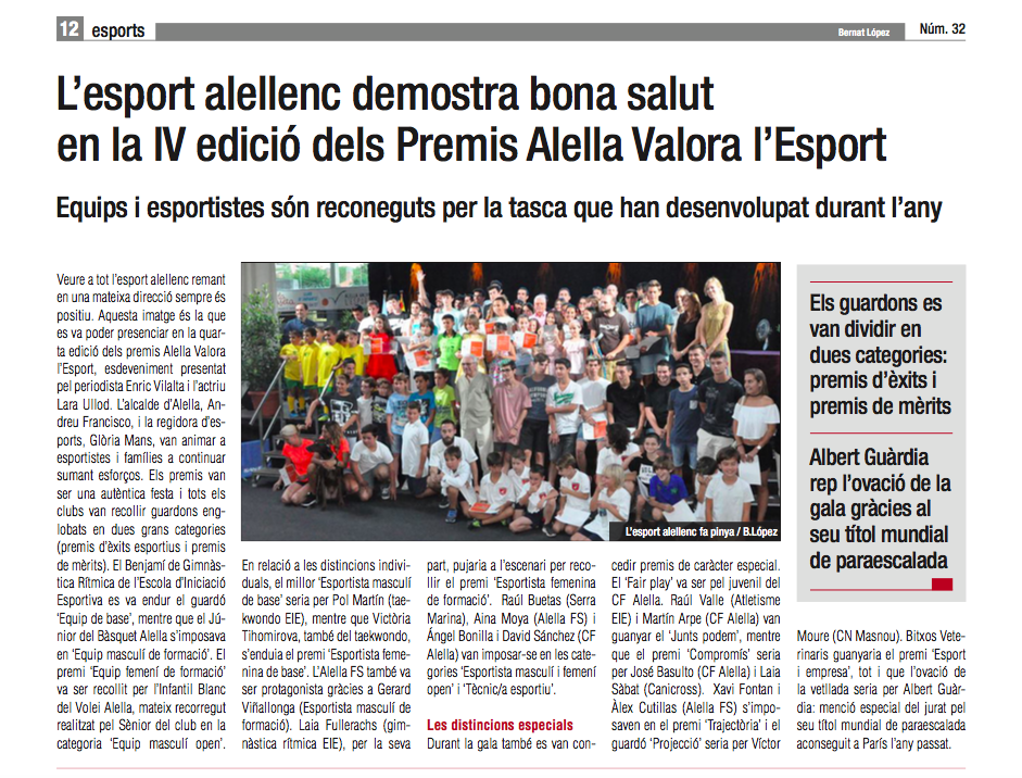 Premis Alella Valora Esport Diari Alella