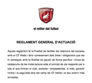 Reglament CF Alella
