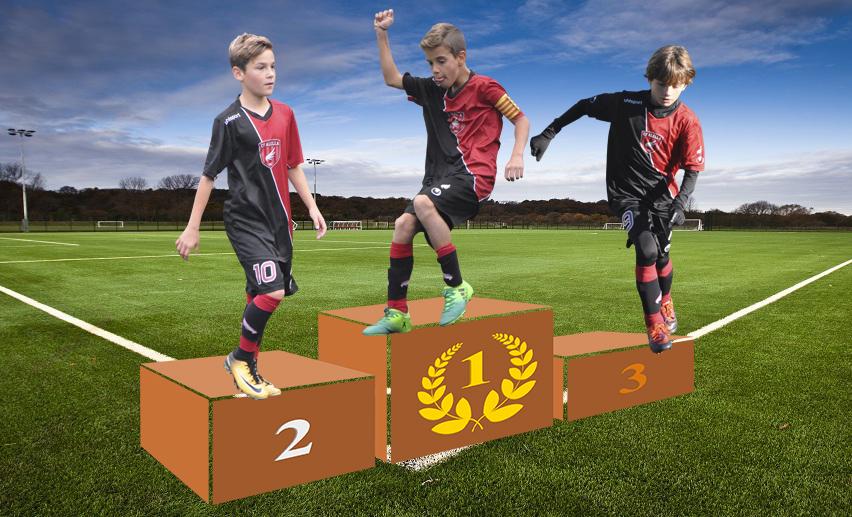 El podi del gol: Nil Caballero, Gavin Taylor i Max Zellmer