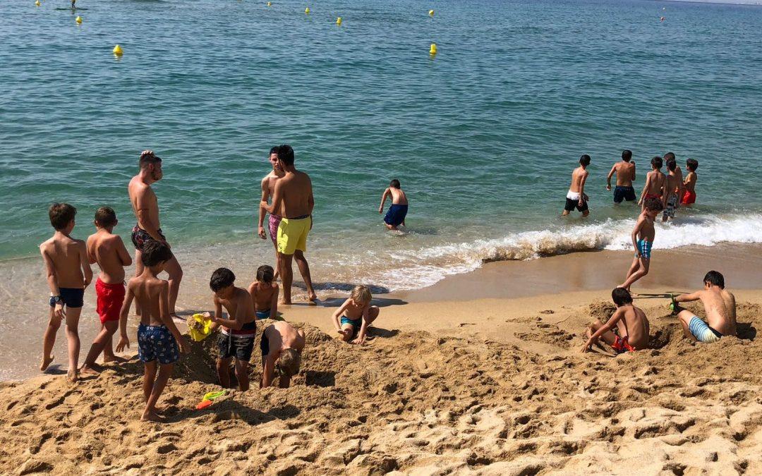 El campus gaudeix de la platja del Masnou