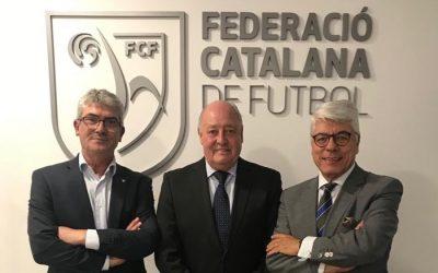 El CF Alella, a la inauguració de la nova seu de la FCF al Maresme