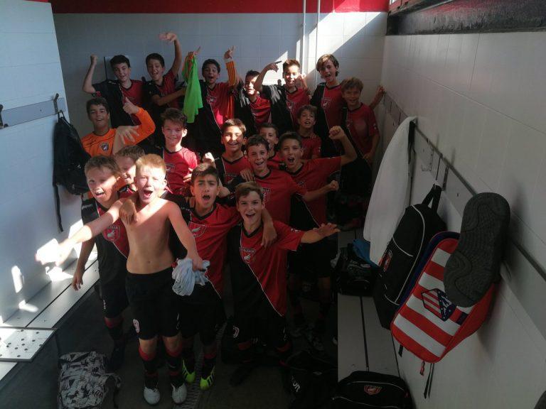 L'Infantil 'B' marca un terç dels gols de la temporada en un partit!