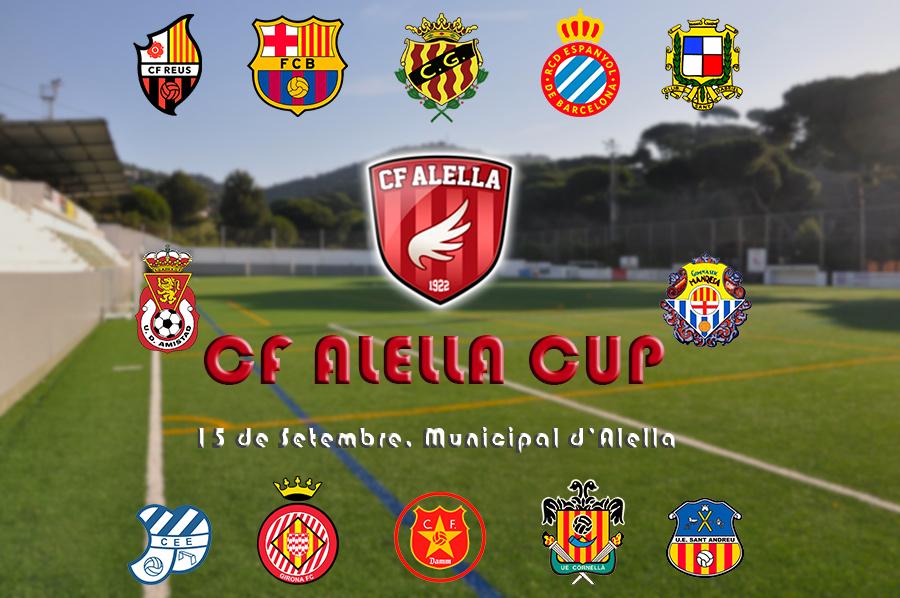 Barça, Espanyol i Girona lideren el cartell de la CF Alella Cup
