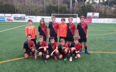 L'Aleví 'D' remunta un 5-2 i el Benjamí 'B' marca 19 gols