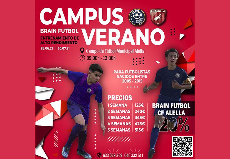 Arriba el Campus d'estiu 2021 de la mà de Brain Futbol!